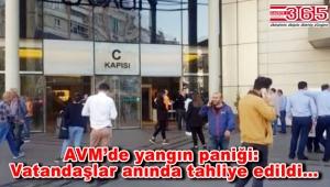 Bakırköy'deki AVM'de yangın paniği yaşandı