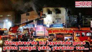 Güngören'de bir tekstil atölyesinde yangın çıktı: 1'i ağır 5 yaralı var