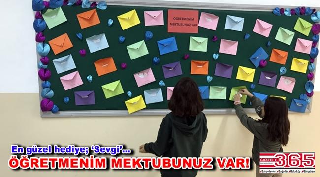 Kuleli Ortaokulu öğrencilerinden Öğretmenler Günü hediyesi