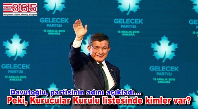 Ahmet Davutoğlu partisini ilan etti: 'Gelecek Partisi'