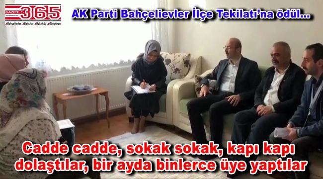 AK Parti Bahçelievler Teşkilatı, üye rekoru kırdı!