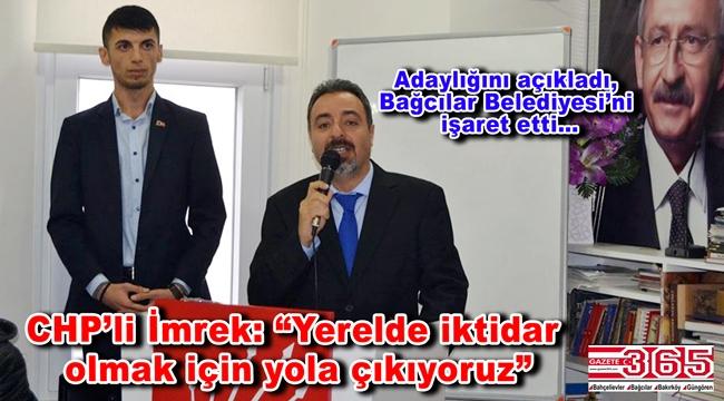 Av. Murat İmrek, CHP Bağcılar İlçe Başkanlığı'na adaylığını açıkladı