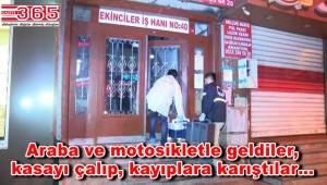 Bağcılar'da işyeri soygunu: Kasayı alıp, kaçtılar