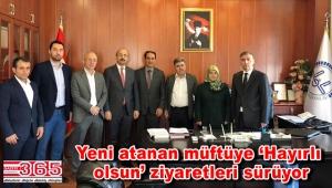 Bahçelievler'in yeni Müftüsü Hüseyin Gün'e AK Parti'den ziyaret...