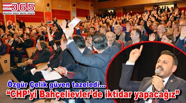 CHP Bahçelievler İlçe Başkanlığı'na tekrar Özgür Çelik seçildi