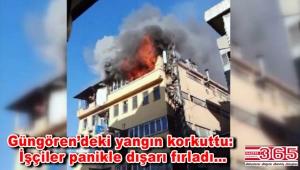 Güngören'de bir tekstil atölyesinde yangın çıktı
