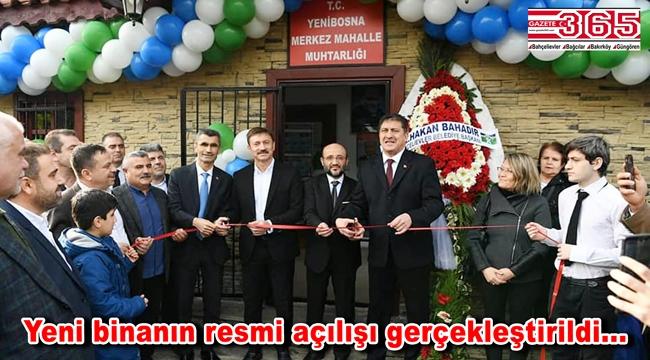 Yenibosna Merkez Mahallesi Muhtarlığı'nın yeni binasının açılışı yapıldı