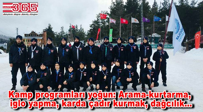 Bağcılarlı izciler, Aladağ'da kış kampına başladı