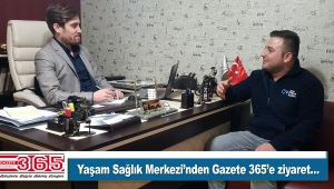 Sağlıkçı Mesut Çetinkaya, Gazete 365'e bir ziyaret gerçekleştirdi