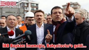 İBB Başkanı Ekrem İmamoğlu, Bahçelievler'de incelemelerde bulundu