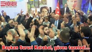İYİ Parti Bağcılar İlçe Başkanlığı'na tekrar Sururi Karabal seçildi
