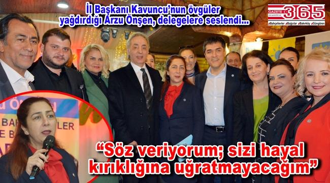 İYİ Parti Bahçelievler İlçe Başkanı Arzu Önşen, delegelerle yemekte buluştu