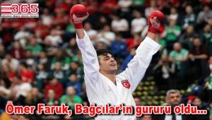 Bağcılarlı karateci Ömer Faruk Yürür, Macaristan'dan altın madalyayla döndü