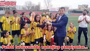 Bağcılarlı kızlar katıldıkları turnuvada İstanbul Şampiyonu oldu