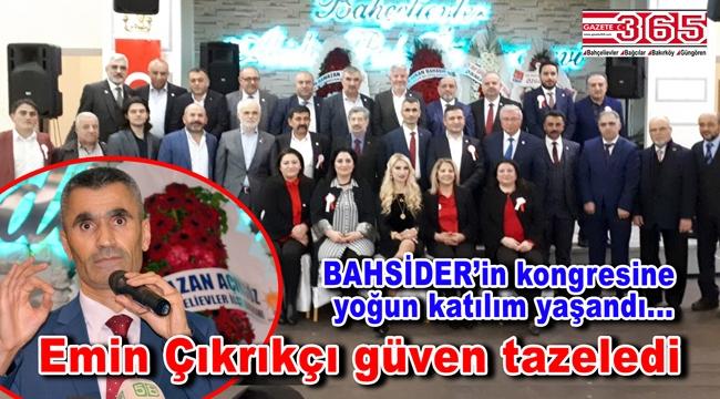 Bahçelievler Sivaslılar Derneği Başkanlığı'na tekrar Emin Çıkrıkçı seçildi