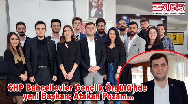 CHP Bahçelievler İlçe Gençlik Kolu Başkanı Atakan Pozam oldu