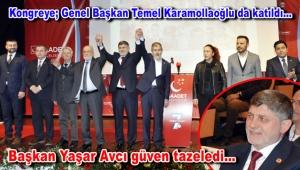Saadet Partisi Bahçelievler İlçe Başkanlığı'na yeniden Yaşar Avcı seçildi
