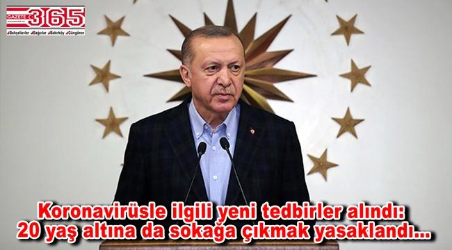 Cumhurbaşkanı Erdoğan, koronavirüsle mücadele kapsamında yeni tedbirleri açıkladı