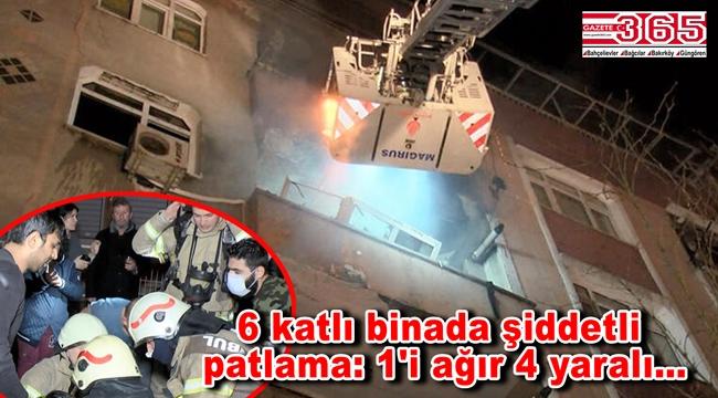 Güngören'de doğalgaz patlaması: 1'i ağır 4 kişi yaralandı