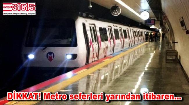 İmamoğlu duyurdu: Metro seferleri 21.00'e kadar yapılacak