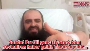 Saadet Partisi Bahçelievler Gençlik Kolu Başkanı Fatih Seven, koronavirüsü yendi