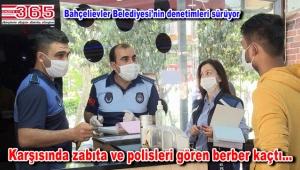 Bahçelievler'de polisten kaçan berber kısa sürede yakalandı