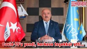 Başkan Sururi Karabal, koronavirüsü yendi