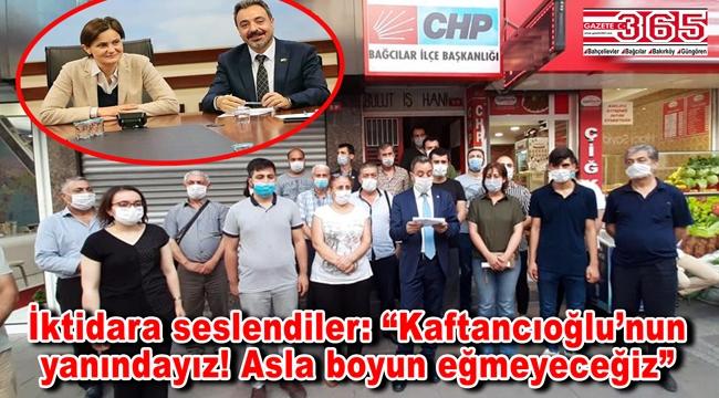 CHP Bağcılar'dan, Kaftancıoğlu'nun cezasının onanmasına tepki…