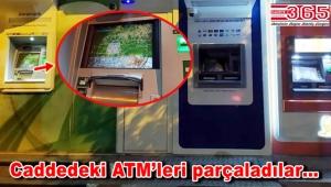 Bahçelievler'de hırsızlar ATM'lere saldırdı