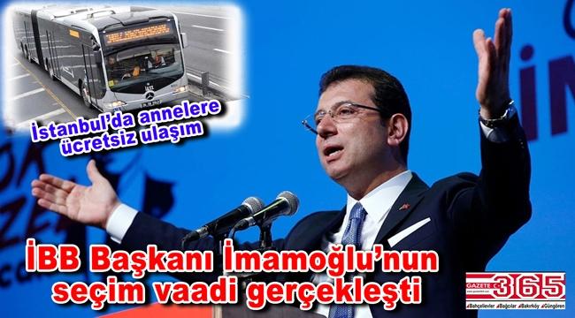 İstanbul'da 0-4 yaş arası çocuğu olan annelere ücretsiz ulaşım imkânı…