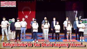 Bahçelievler Belediyesi Yaz Okulu öğrencileri sertifikalarını aldı