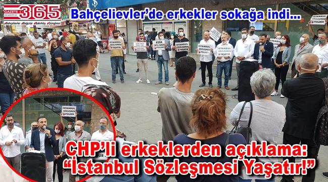 Bu kez CHP'li erkekler sokaktaydı: Kadına şiddete 'Dur' dediler!