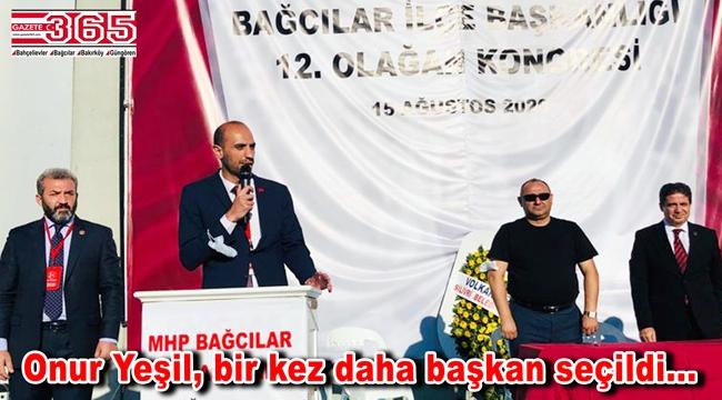MHP Bağcılar İlçe Başkanlığı'na tekrar Onur Yeşil seçildi
