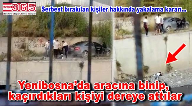 Bahçelievler'de gasp dehşeti: 7 metreden aşağı dereye attılar
