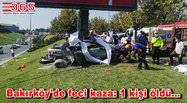 Bakırköy'de feci kaza! Otomobilde sıkışan sürücü hayatını kaybetti