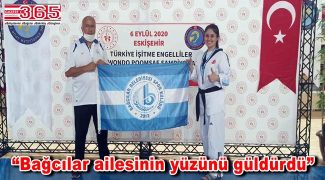 İşitme Engelli sporcu Yıldız, Türkiye 3'üncüsü oldu
