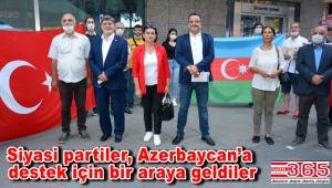 Bahçelievler'deki siyasi partilerden Azerbaycan'a ortak destek…
