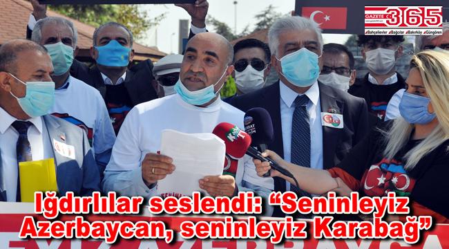 Iğdırlılar Derneği'nden Azerbaycan'a destek…