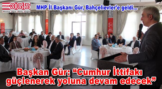 MHP İstanbul İl Başkanı Birol Gür, Bahçelievler teşkilatıyla buluştu