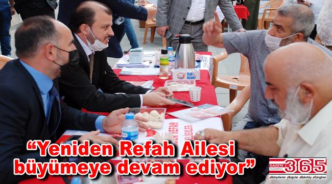 Yeniden Refah Partisi Bahçelievler Teşkilatı'nın üye çalışmaları dikkat çekiyor