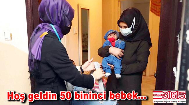 Bağcılar Belediyesi Gönül Bağı üyeleri, 'Hasan Ali' bebeği ziyaret etti