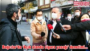Bağcılar'da 7 noktada 28 ekiple sigara yasağı denetimi yapıldı