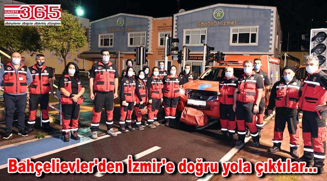 Bahçelievler Belediyesi Arama Kurtarma Birliği İzmir'e hareket etti