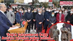 Bakırköy Belediyesi tarafından 'Sağlık Çalışanlarına Saygı Anıtı' açıldı