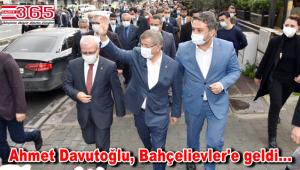 Gelecek Partisi Genel Başkanı Davutoğlu, Bahçelievler'de esnaf ve halkla buluştu