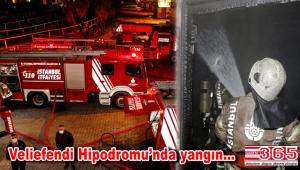 Bakırköy Veliefendi Hipodromu'nda yangın çıktı