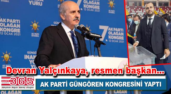 AK Parti Güngören İlçe Başkanlığı'na; Devran Yalçınkaya seçildi