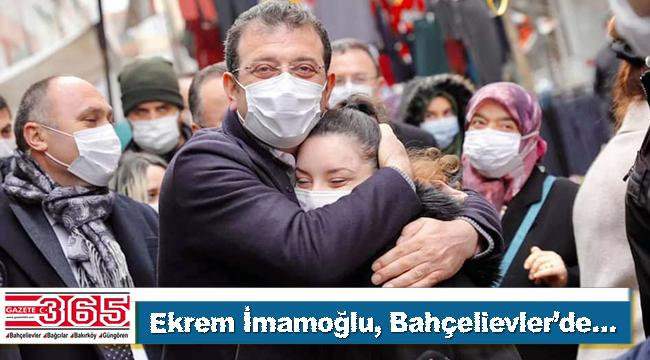 İBB Başkanı Ekrem İmamoğlu Bahçelievler'de halkla kucaklaştı