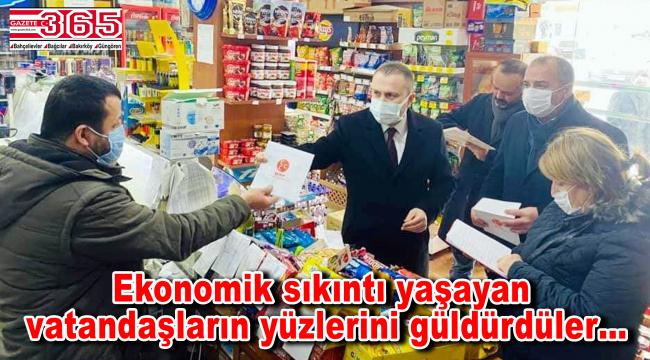 MHP Bakırköy'den örnek hareket! Mahallelinin bakkal borçlarını kapattılar