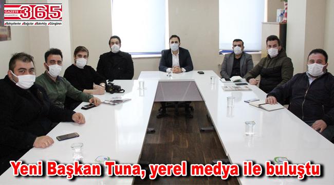 AK Parti Bahçelievler İlçe Başkanı Fatih Tuna, yerel basını ağırladı